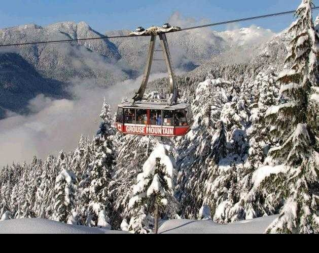 chair lift at Grouse Mountain Vancouver BC