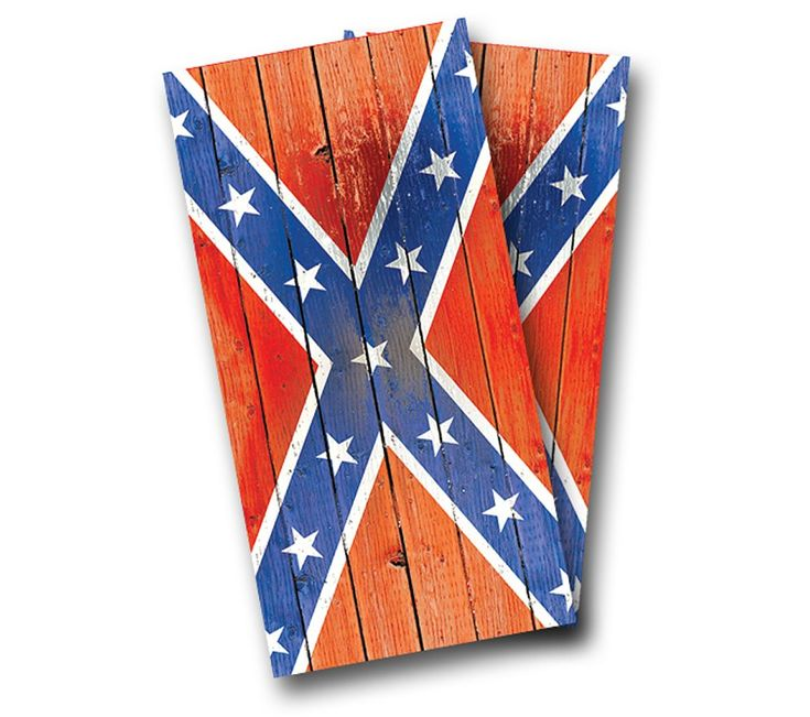 """Distressed Rebel Flag"" Cornhole Wrap Product Details | AJJ Cornhole"
