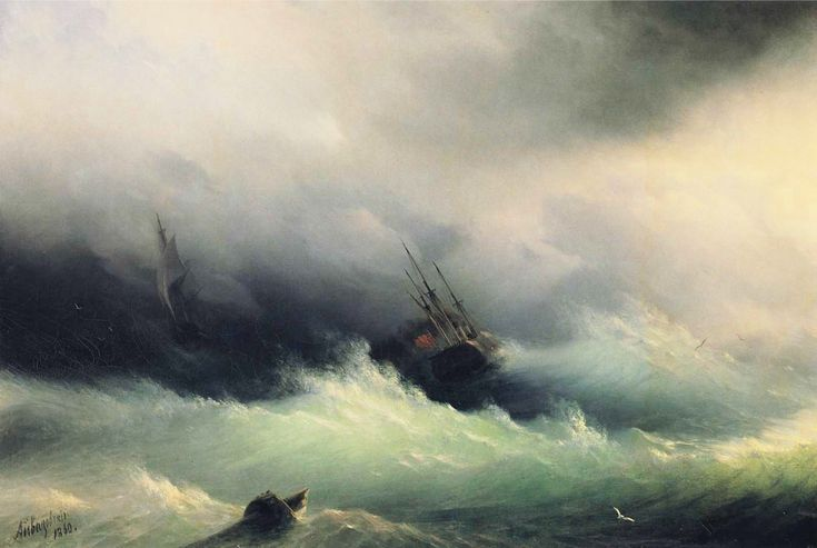 Ships in a Storm   - Ivan Aivazovsky