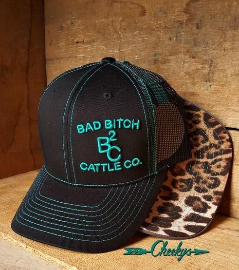 5e23584e BB Cattle Co Cap Solid Black & turquoise | Hats | Hats, Solid black, Cute  outfits