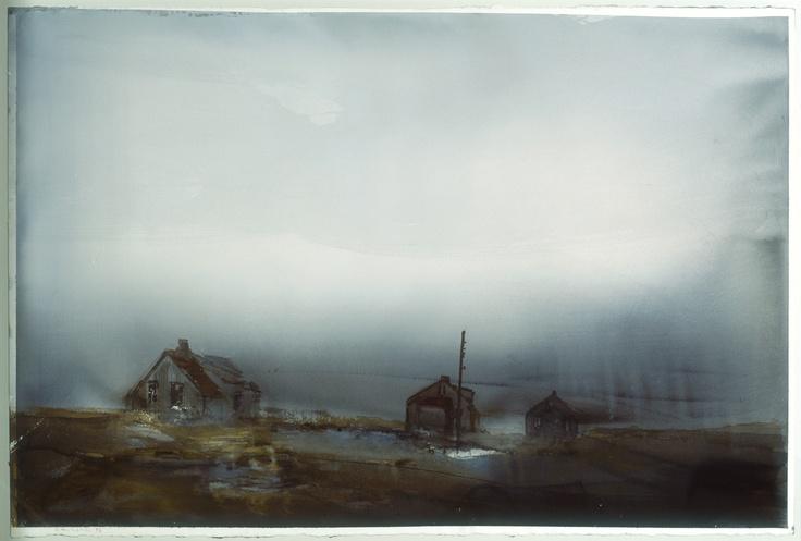 Lars Lerin, akvarell