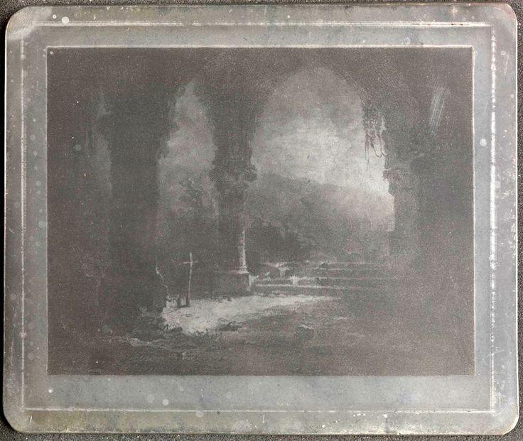 Placa, claro de luna,1827,heliografía