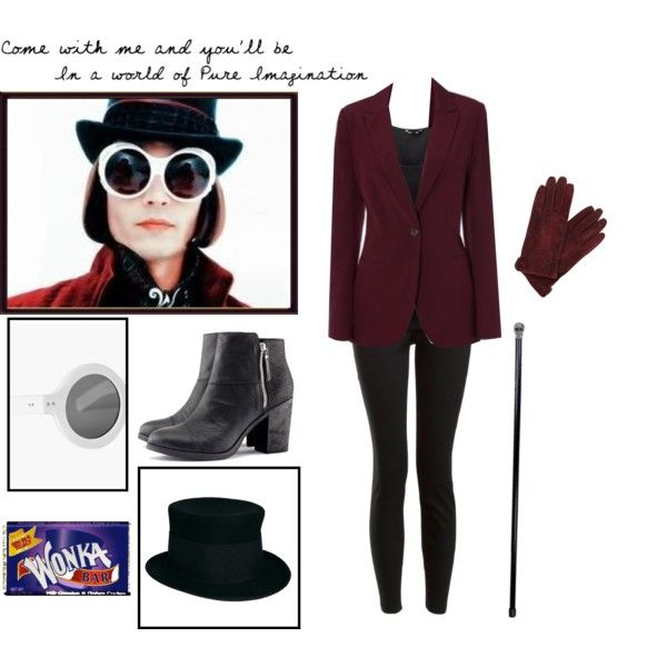 """""""Willy Wonka Costume"""" by catsian on Polyvore"""
