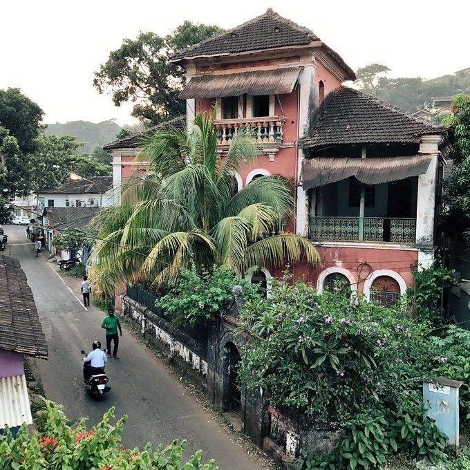 Bylanes of Panjim , Goa.