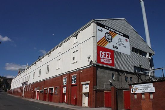 Firhill Stadium, home of Partick Thistle F.C.