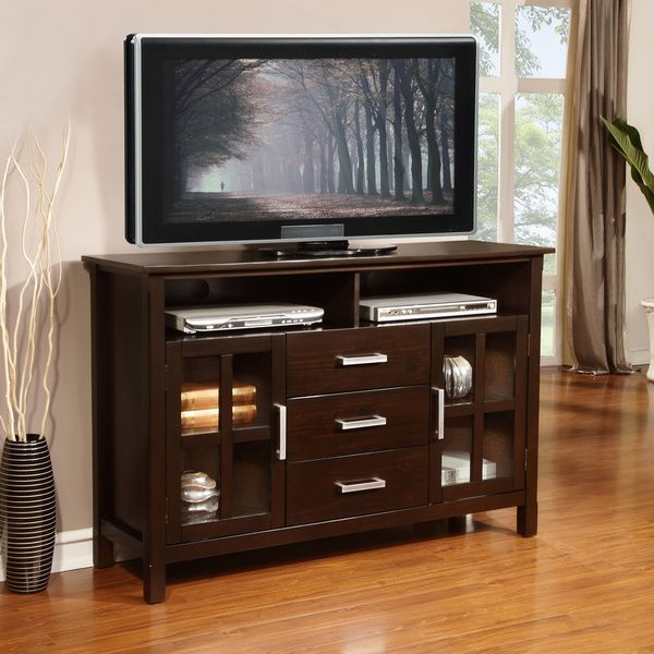 WYNDENHALL Waterloo Walnut Brown Tall TV Stand for TV s up to 60 Inches by  WyndenHall. 17 best ideas about Tall Tv Stands on Pinterest   Tall tv cabinet