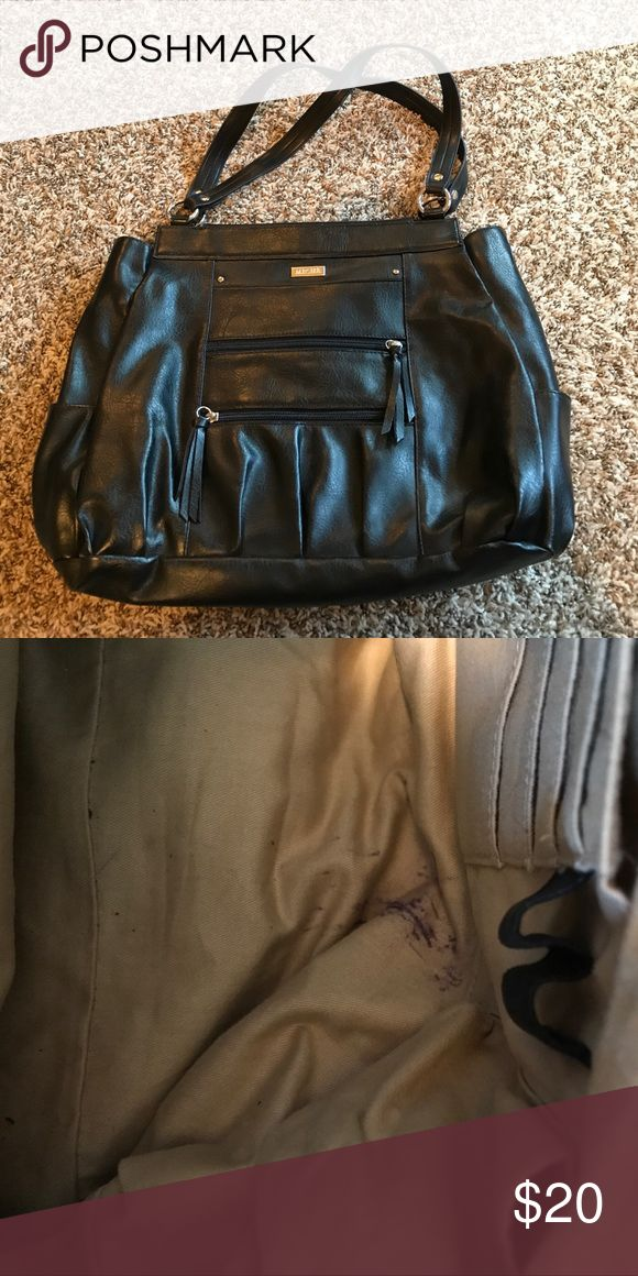 """Miche Bag Prima Shell and Insert """"Morgan"""" Black leather Miche Bag with a couple marking on the inside. Miche Bags Shoulder Bags"""