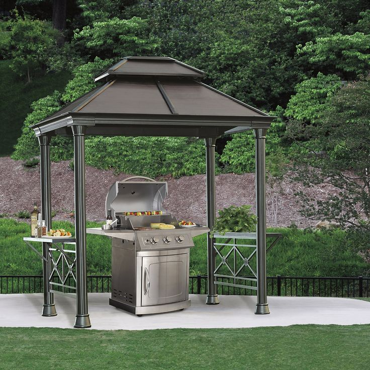 Aluminium gazebo from Costco. Intended as a cover for