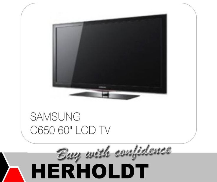 """Everything is bigger and better on a #Samsung C650 60"""" LCD TV. Available at #Herholdt. #appliances"""
