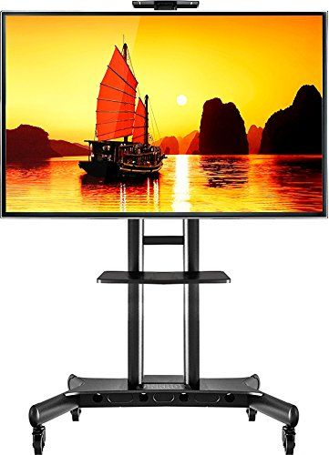 Onkron Mobile Tv Cart Tv Stand With Mount For 55 To 80 Inch Flat