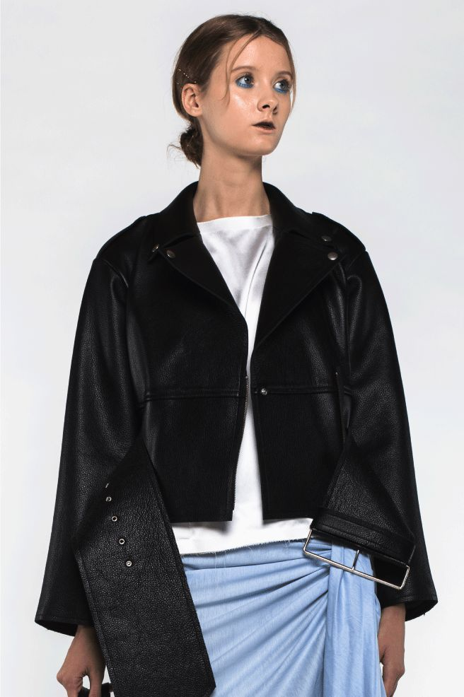 Huge waistband biker jacket via ANN-SOFIE BACK. Click on the image to see more!