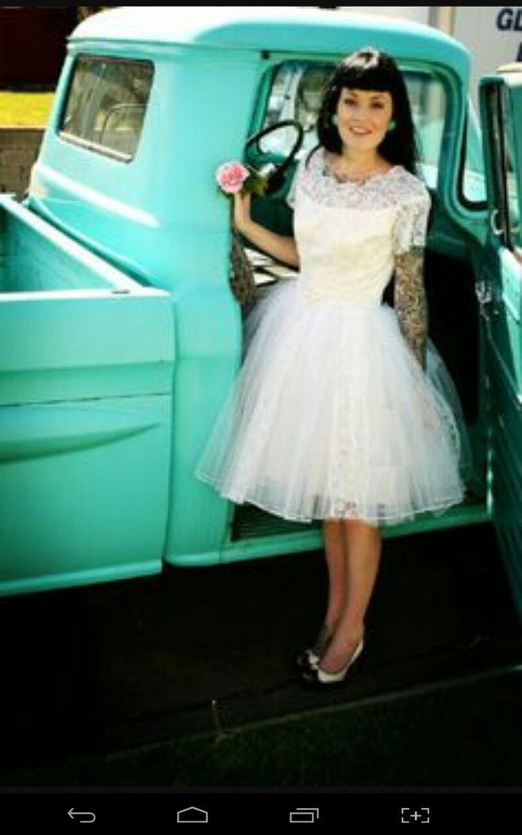 Vintage pin up wedding dress   best then and now vintage wedding images on Pinterest