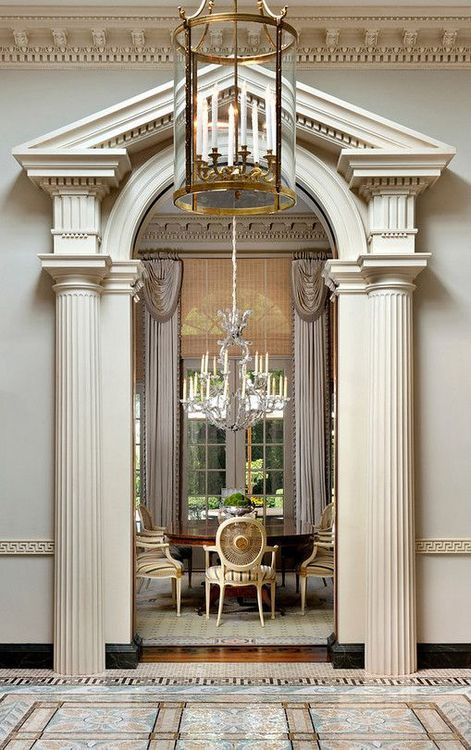 Neo-classical Georgian home in Atherton California, designed by Andrew Skurman