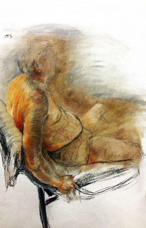 Figure drawing by Julie Čermáková