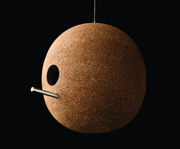 Another great portuguese cork birdhouse via CDC.ColourDesignConcept
