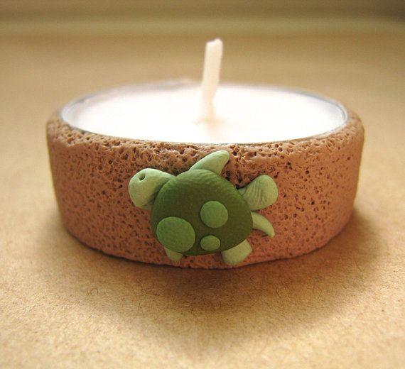 10 Custom sea turtle tea light candles - LuckyYouStudio