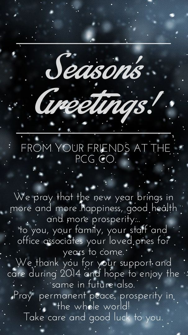 Check out my new PixTeller design! :: Season's greetings! we pray that the new year brings in mo...