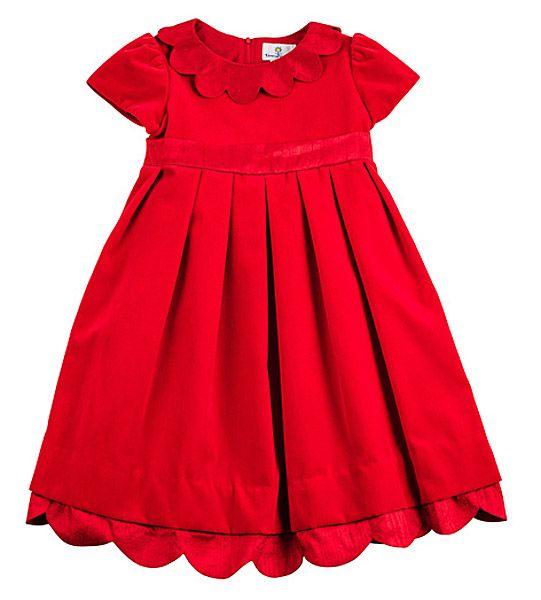 Florence Eiseman Girls Ruby Red Velvet Christmas Dress