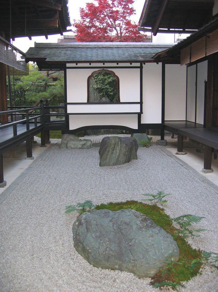 daitokuji karesansui or japanese rock garden kyoto japan