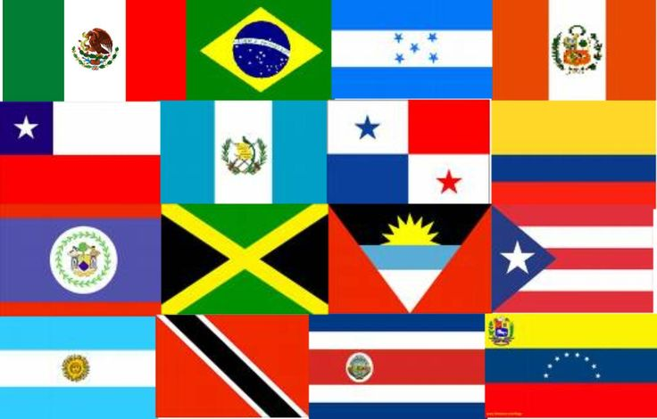 Latin America Country Flags