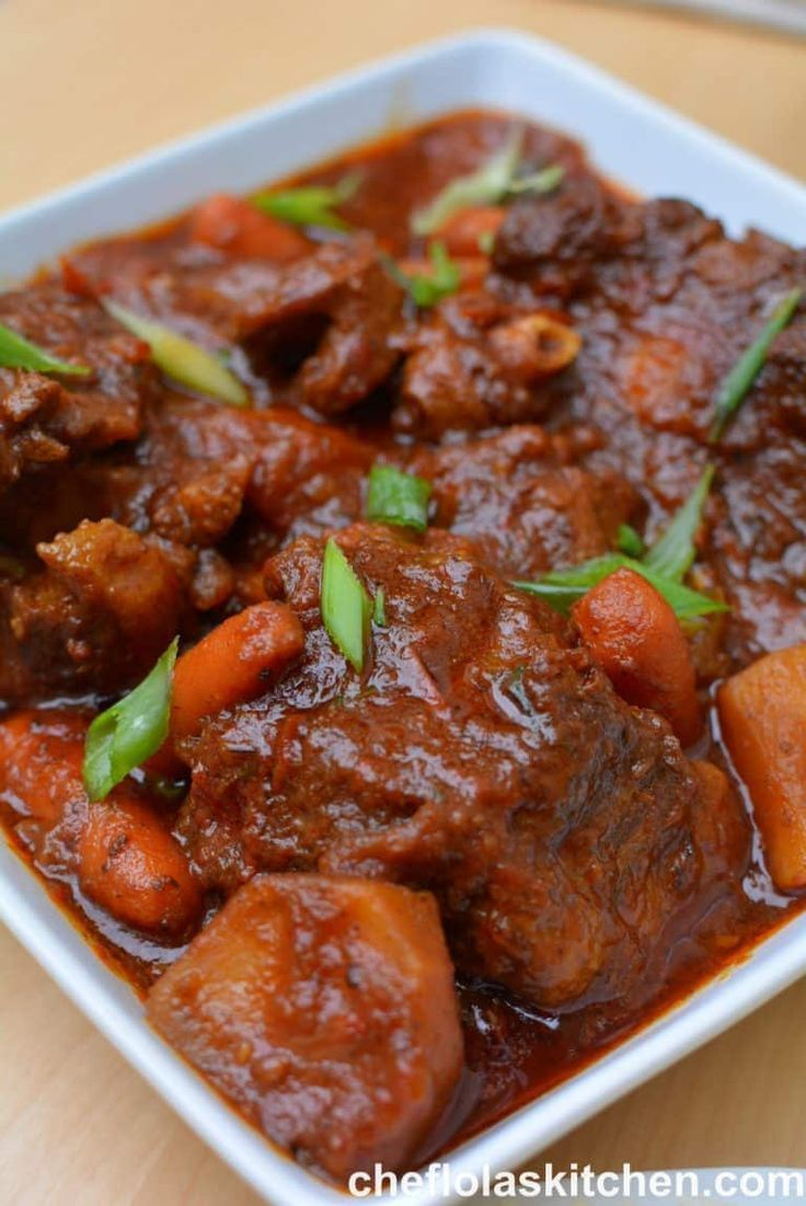 Best Oxtail Stew Jamaican Style Recipe Oxtail Recipes