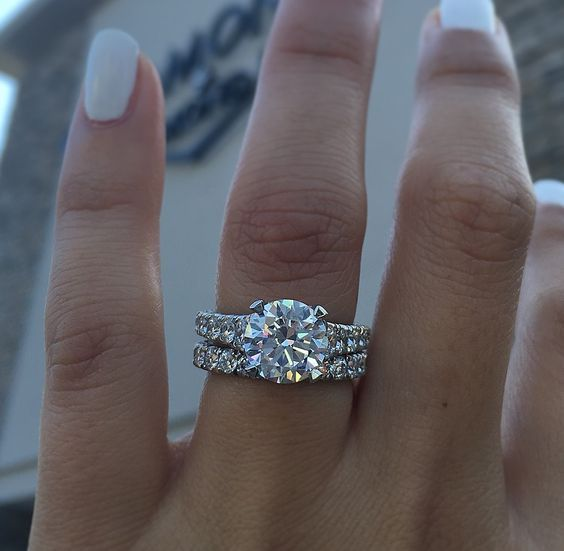 This shot of our RoyalT solitaire  shot right at sunset at the beautiful new store shows off how beautiful Tacori engagement rings are once they become a part of your bridal set.