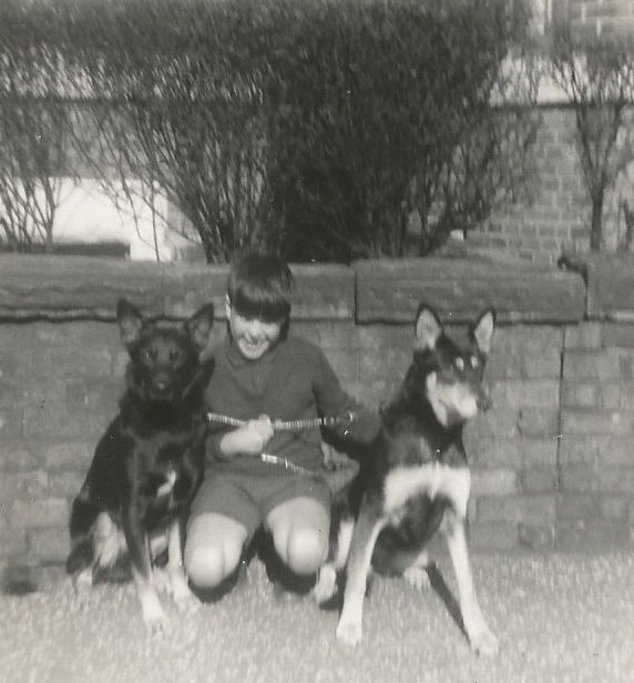 Myself outside 69 Partkhill Avenue, Crumpsall, Manchester about 1964