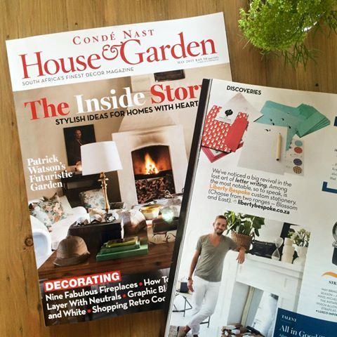 Liberty Bespoke featured in the May House and Garden #CondeNast #LibertyBespoke #stationery