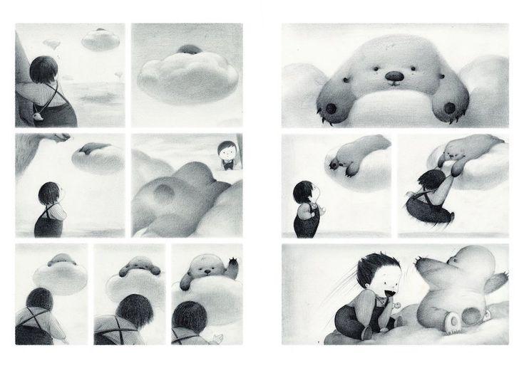 The Only Child illustrato da Guojing Il libro, fatto di sole immagini disegnate a matita, riflette l'infanzia solitaria dell'illustratrice e della maggior parte dei bambini cinesi, nati sotto la politica del figlio unico (che da pochissimo non è più in