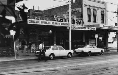 Milk bar on the north side of Valetta Street, Malvern, in 1984.  Photo taken by Coleman Sutherland Conservation Consultants.