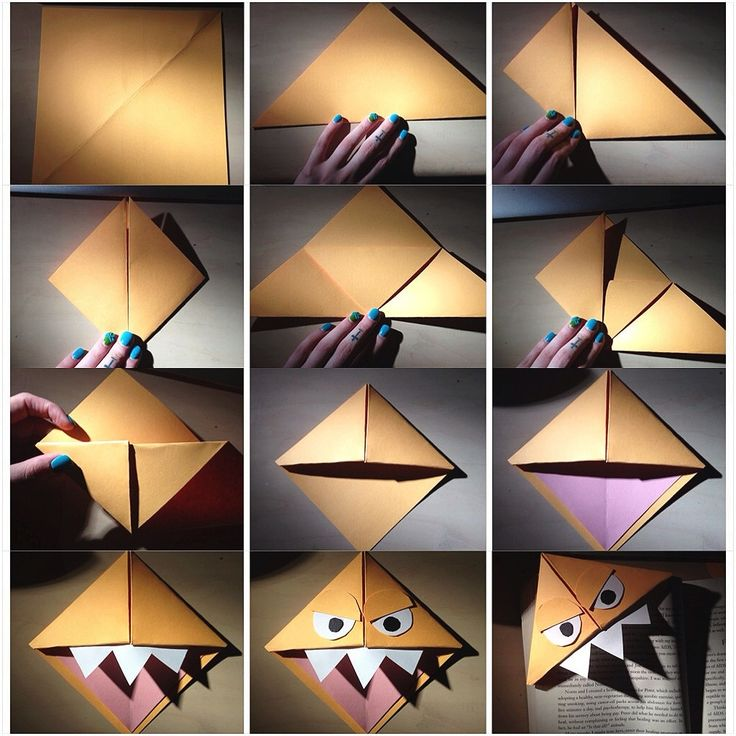 Origami Monster Bookmark HOW TO MAKE
