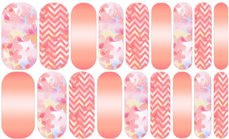Sweet Coral Chevron | Jamberry
