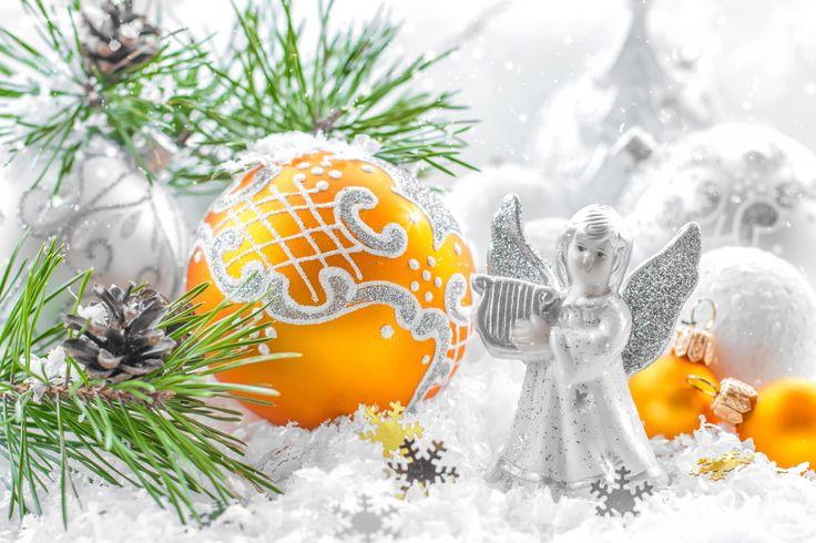 Świąteczna, Dekoracja, Bombki, Aniołek