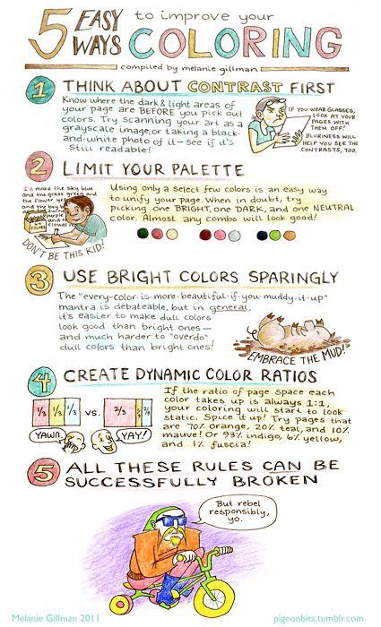 Melanie Gillman : 5 ways to improve coloring chart.