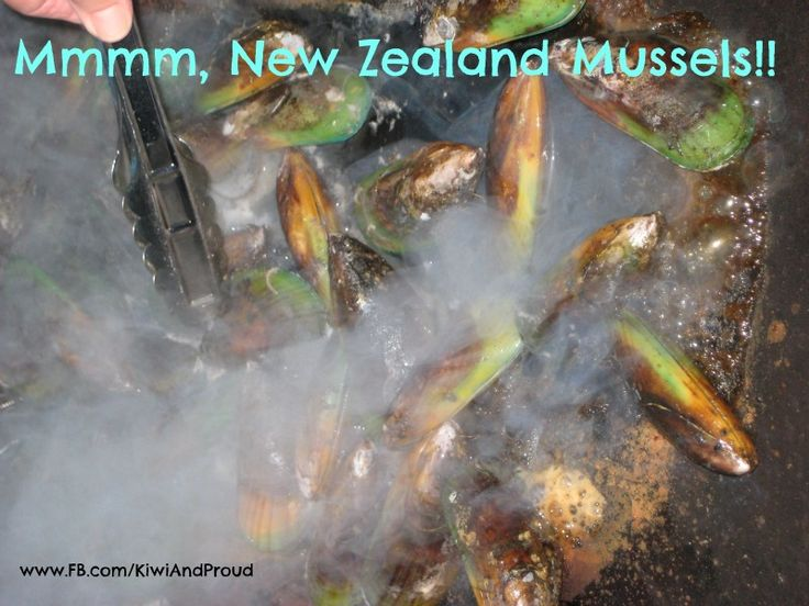 Mmmmm, New Zealand Green Lipped Mussels, on the bbq, marinated in good New Zealand beer!!