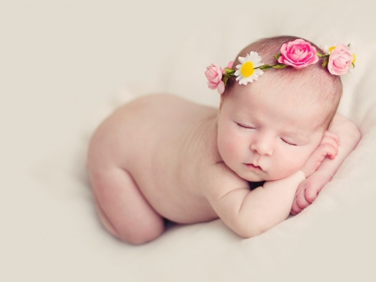 Infant flower crown