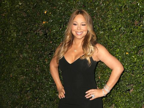 Mariah Carey makes a surprise appearance at TCA and shows off James Packer's gift to her.