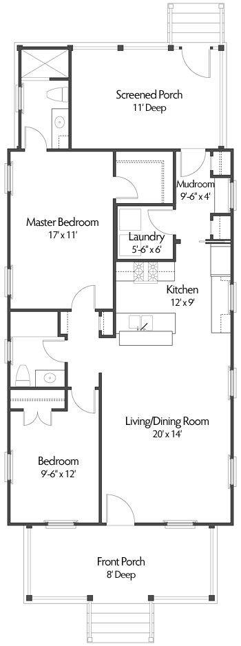 Best 25 shotgun house ideas that you will like on pinterest for Shotgun home floor plans