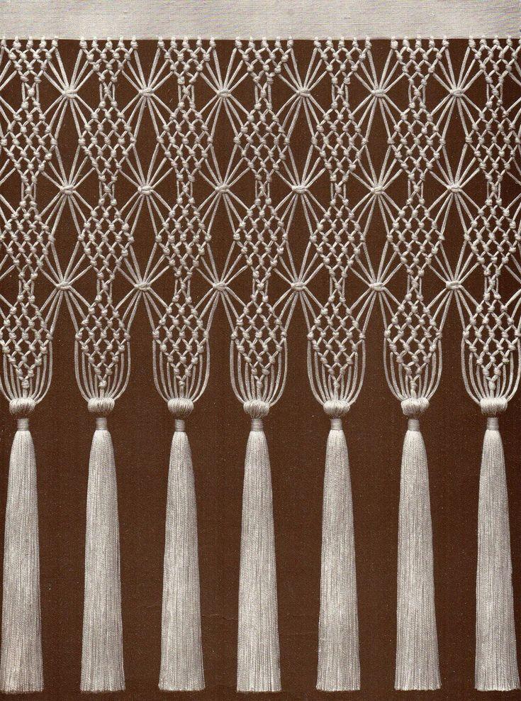 les 81 meilleures images du tableau macrame sur pinterest tissage rideau macram et tentures. Black Bedroom Furniture Sets. Home Design Ideas