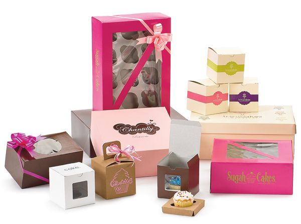 Showcase your cupcakes in our trendy cupcake boxes available in window and non-window styles. Available for 1,2,4,6 and 12 piece cupcakes, boxes come standard with matching inserts. White and Kraft boxes are available in-stock. Enhance your brand image with personalized cupcake boxes! #cupcakeboxes #packagingspecialties