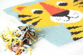 Een tijgerkussen borduren (gratis patroon)