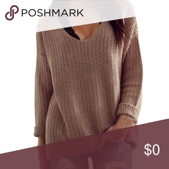 V-Neck Comfy Fall sweater COMING SOON!! Perfect for Fall sweater ! Loose fit. V-neck. Comfy pull over. LIKE this listing for updates on arrival !! Even comment with your size if interested :) I will be selling for under $35! 😘 this sweater does run small ! Sweaters V-Necks