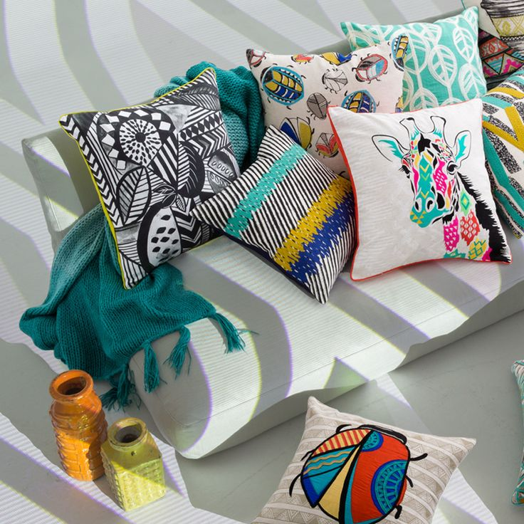 Colourful KAS lounge cushions available online. #lovekas http://ow.ly/Ot2f9