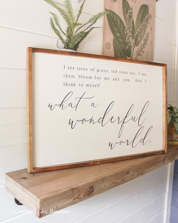 What A Wonderful World Wood Sign Sign Wooden Sign Farmhouse