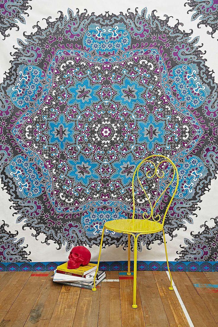 Kali Print Tapestry Throw