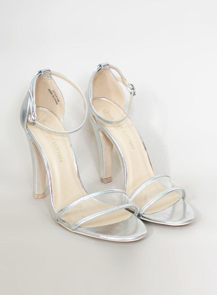 Metallic Silver Strappy Bridal Shoes - $75 Alex - ? Tara - 37-37.5 Genna - 39 - 39.5 Alana - 40