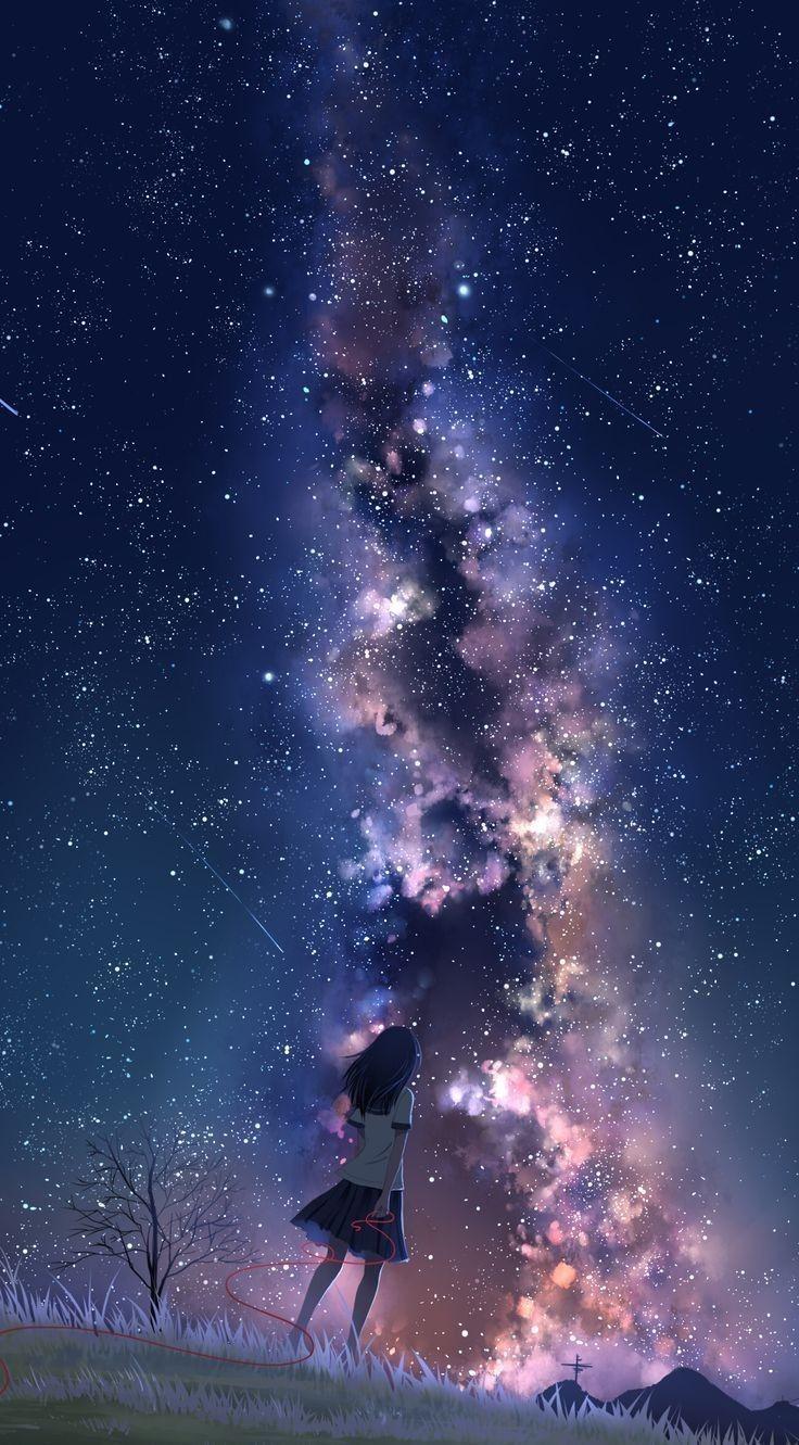 Mai Life Bigger Than The Skye Lee S 夜空 イラスト 星空 イラスト 綺麗なイラスト壁紙背景