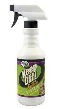 Keep Off Repellent Spray For Cats 16oz, Four Paws - Keep Off! Repellent For Cats & Kittens is a perfect aid for training cats to stay off furniture,draperies, counters, table tops and more. Helps keep cats away from houseplants, outdoor plants and other undesirable areas. Repels cats for up to 24 hours when applied daily. Safe & effective for use indoors & outdoors.