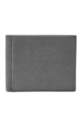 Fossil Men's Ingram Rfid-Blocking Bifold Flip Id Wallet - Black - One Size