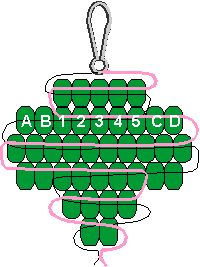 Girl Scout Swaps aka special whatchamacallits affectionately pinned somewhere - Girl Scout Trefoil Pony Bead Pattern